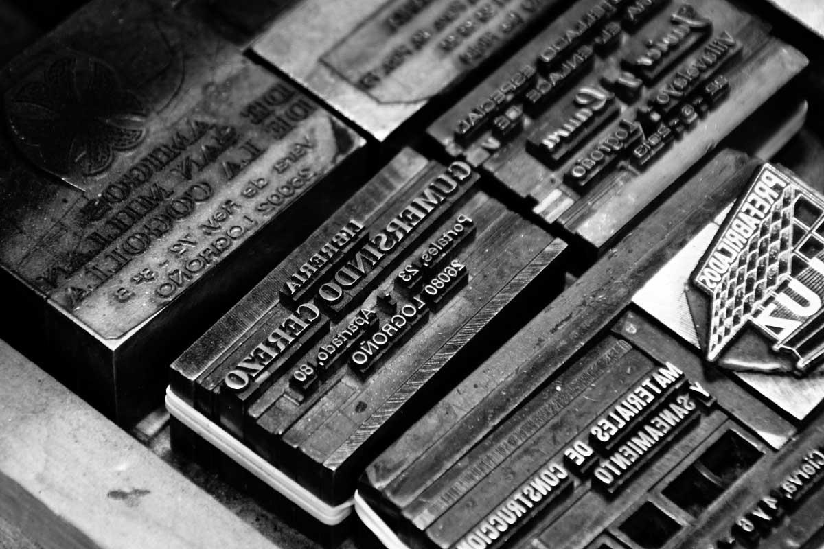 Moldes para impresión tipográfica